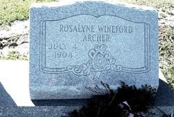 Rosalyne Wineford <i>Hollis</i> Archer