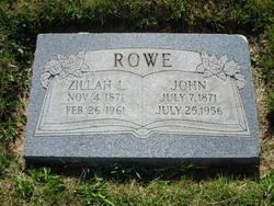 Zillah <i>Longson</i> Rowe