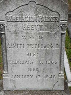 Marianna Parker <i>Rhett</i> Prioleau