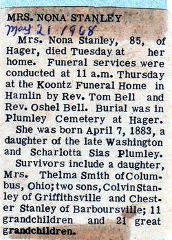 Nona Frances <i>Plumley</i> Stanley