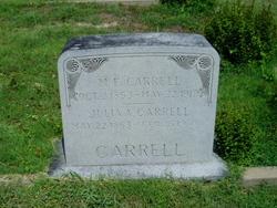 Julia A. <i>Simms</i> Carrell