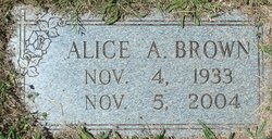 Alice A. <i>Harvey</i> Brown