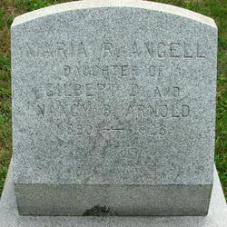 Maria R <i>Arnold</i> Angell