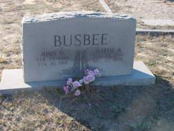 John H Busbee