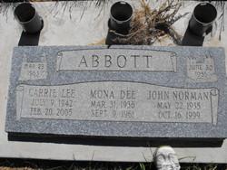 Mona Dee <i>Liddell</i> Abbott