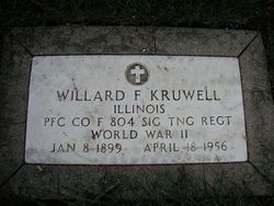 PFC Willard F. Kruwell