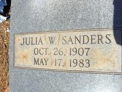 Julia W Sanders