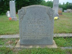 Mary Virginia Jennie <i>Tucker</i> Landreth