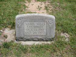 Mabel <i>Mills</i> Chumbley