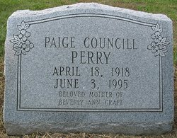 Paige <i>Councill</i> Perry