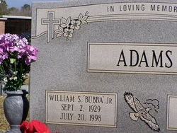 William S Bubba Adams