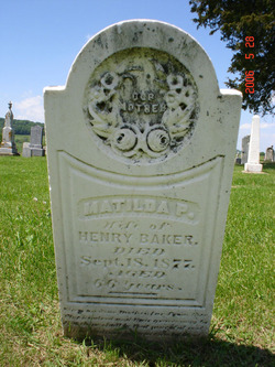 Matilda P. <i>Hunt</i> Baker