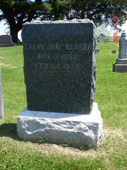 Sarah Jane Blaker