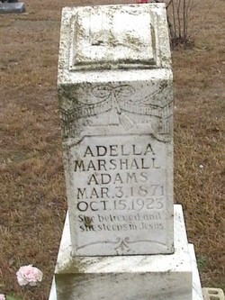 Adella <i>Marshall</i> Adams