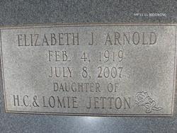 Elizabeth J <i>Jetton</i> Arnold