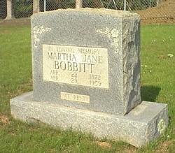 Martha Jane <i>Hampton</i> Bobbitt
