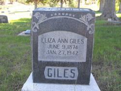 Eliza Ann <i>Winterton</i> Giles