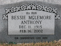 Bessie <i>McLemore</i> Anthony