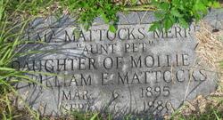 Zelma Aunt Pet <i>Mattocks</i> Merrell