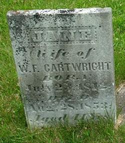 Jane <i>Walker</i> Cartwright