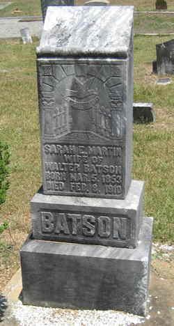 Sarah Elizabeth <i>Martin</i> Batson