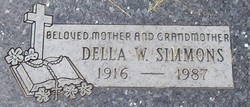 Della W <i>O'Dell</i> Simmons