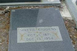 Martha Mattie <i>Lewis</i> Giddens