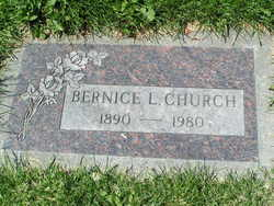 Bernice L <i>Holden</i> Church