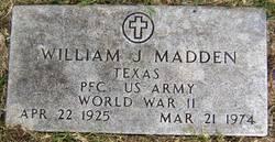 PFC William J Madden