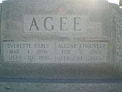 Mary Aleene <i>Strickler</i> Agee