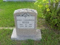 Mable <i>Underwood</i> Oster