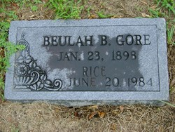 Beulah B <i>Gore</i> Rice
