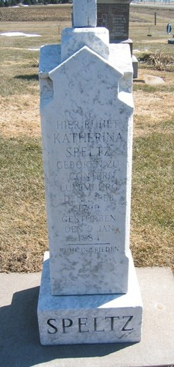 Katherina <i>Michels</i> Speltz