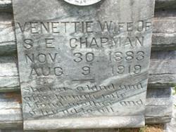 Venettie Nettie <i>Tanner</i> Chapman