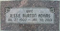 Jessie <i>Burton</i> Adams