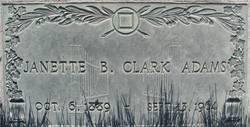 Janette Benson Clark <i>Beck</i> Adams
