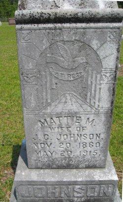 Martha Mauvella Mattie <i>Harris</i> Johnson
