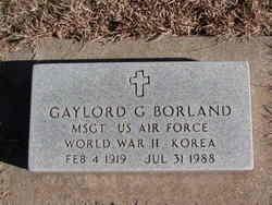 Sgt Gaylord G. Borland