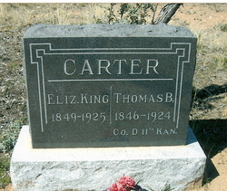 Eliza Elizabeth <i>King</i> Carter