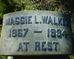 Maggie Lena <i>Mitchell</i> Walker