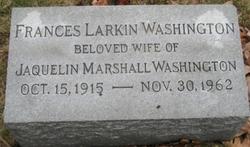 Frances Blanche <i>Larkin</i> Washington