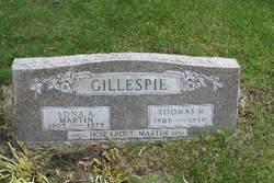 Edna A Martin(formerly Gillespie)