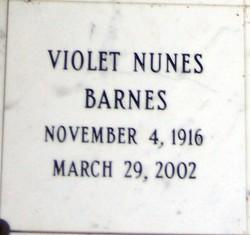 Violet Nunes Barnes