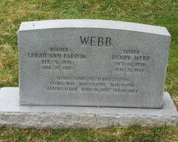 Sarah Ann <i>Farrow</i> Webb