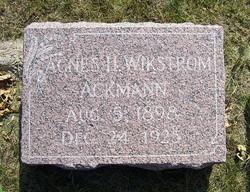 Agnes Helena <i>Wikstrom</i> Ackmann