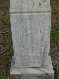 Effie A. <i>Hancock</i> Cannon