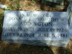 Dorothy M Addington