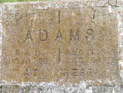 *Infant daughter Adams