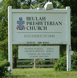 Beulah Presbyterian Church Cemetery