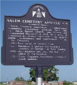 Salem Cemetery Association Cemetery
